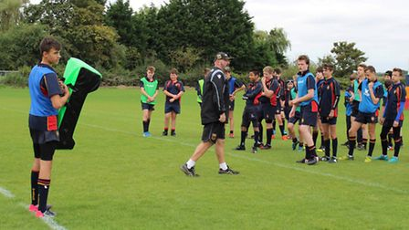 Rugby talents at Wisbech Grammar School have received coaching sessions from Northampton Saints Acad