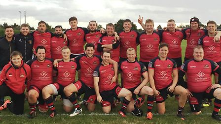 The victorious Wisbech RUFC squad.