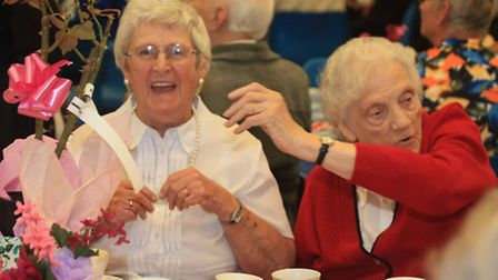 Hundreds celebrate the Queen's 90th birthday at a community tea party at Wisbech Grammar School.