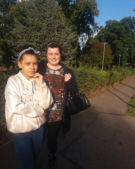 Caneice and mum Davina Missick are concerned about the rats in Hatfield.
