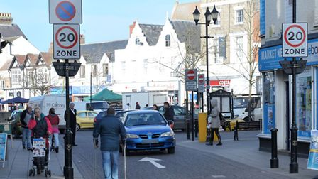 Wisbech market square, One way system. Picture: Steve Williams.