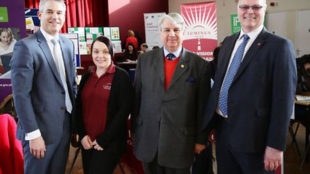 Steve Barclay MP visits Queen Mary Centre, Wisbceh for job fair.