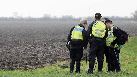 Search and rescue teams out in the Wisbech area to search for any clues on the whereabouts of Terry