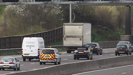 M25 delays near Potters Bar and South Mimms
