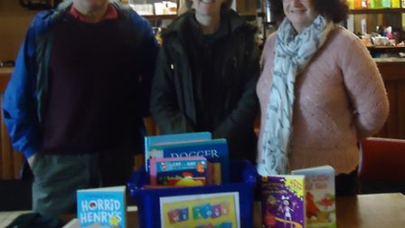 From left to right: Councillor Steve Roberts, Councillor Helen Beckett and Phil Johnson in The Pomeg