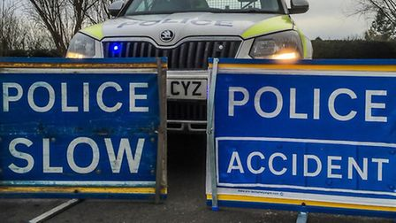 Collision on the A47 at Guyhirn.