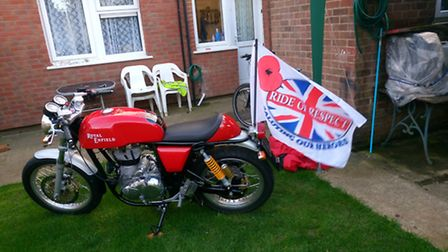 Former Welwyn Garden city man Jason Cross will ride in the Ring of Red event on this motorcycle.