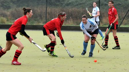 Action from Wisbech Town Ladies 2nds' clash with Spalding Ladies firsts.