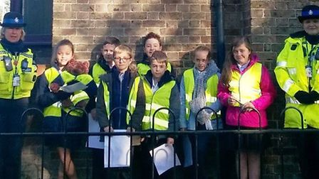 Children of Leverington Primary Academy talked to drivers who exceeded the speed limit of 30mph near