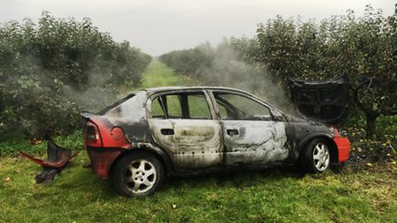 Arsonists torched a car in Burrett Road, Wisbech.