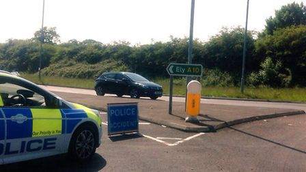 The scene on the A10 at Hilgay, where Angel Fernandez died. Photo: Archant Library