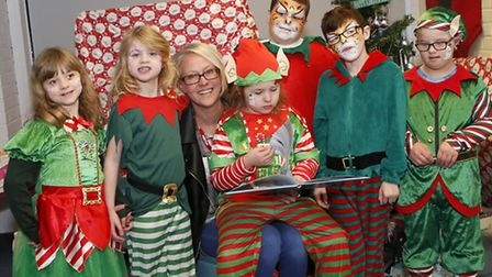 Whittlesey lottery winner Lorraine Daniels hosts an Elf Festival for pupils and staff at her daughte