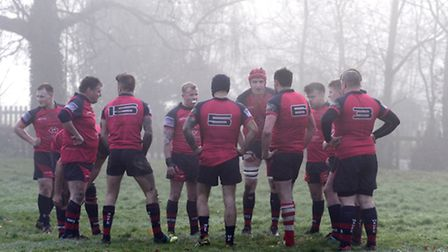 Action from Wisbech's 21-15 defeat to Newmarket.