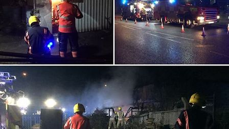 Arsonists struck again last night for the second night running at the Wisbech Vehicle Exchange. Two