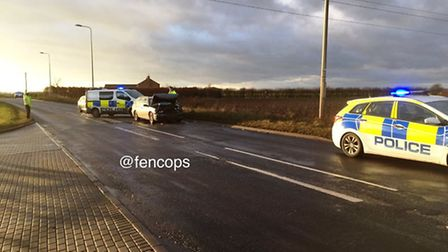 Three vehicle collision on Lynn Road, Wisbech