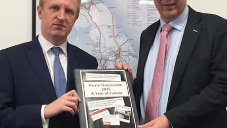 Oliver Dowden and Transport Secretary Chris Grayling.