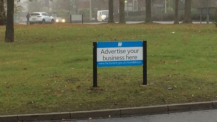 Roundabout advertising Potters Bar