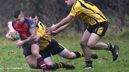 Action from Wisbech's 42-3 success over Swaffham.