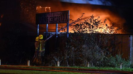 Fire at former Wisbech Vehicle Exchange