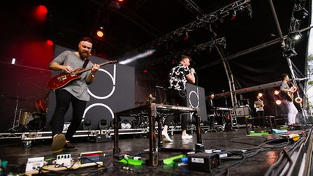 Don Broco on the main stage of Slam Dunk Festival South 2015 at the University of Hertfordshire in