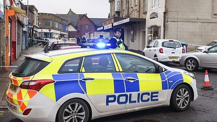 Police cordoned off part of Wisbech town centre on Saturday.
