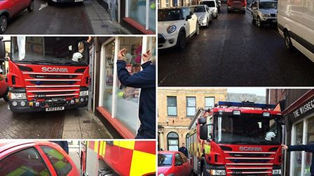 """An """"inconsiderately"""" parked Ford Ka made it difficult for a fire engine to make it down a street in"""