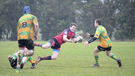 Action from Wisbech's 33-22 success over Crusaders.