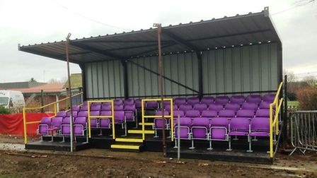 Wisbech St Mary's new 50-seater stand.