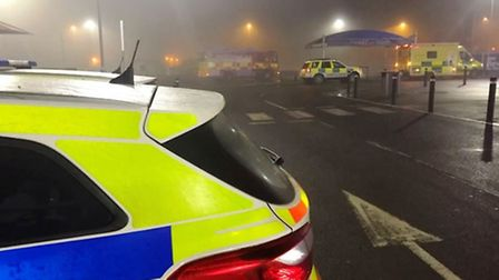 Passenger taken to hospital after crashing car outside Tesco on Cromwell Road, Wisbech