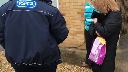 Wisbech fire crews carry out purrfect rescue.