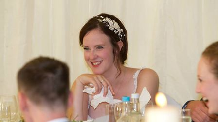 Laura Borrell on her wedding day. Picture: Talk to the Press.