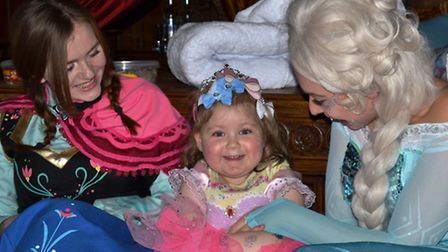Princess Nadia with Frozen's Anna and Elsa.