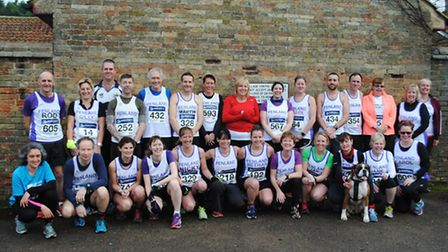 The Fenland Running Club team that ran the Ely New Year's Eve 10k.