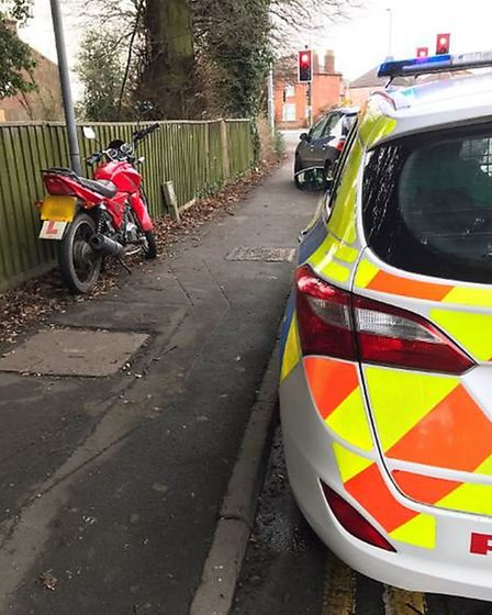 The second incident was a collision involving a motorbike and a car. One person was taken to hospita