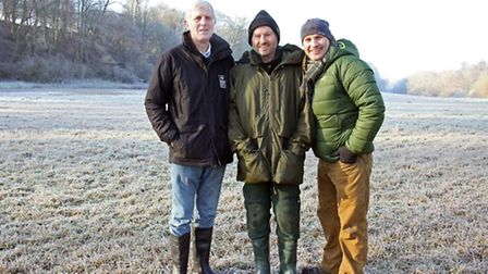 Martin Ketcher (Herts and Middlesex Wildlife Trust Water Vole Conservation Officer), Russell Savory