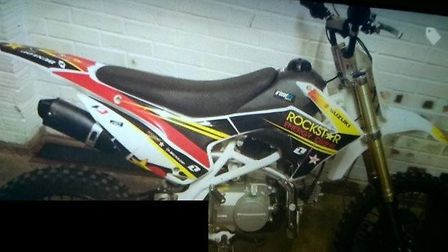 A 13 year old victim was injured and a Suzuki off road bike (as pictured) was stolen. It is believed
