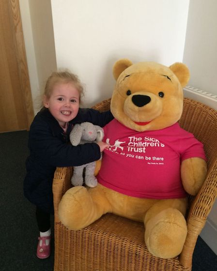 Sister Hollie while staying at home provided by The Sick Children's Trust.