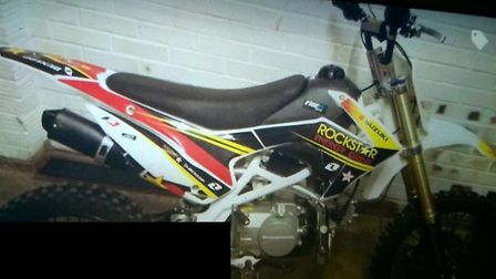 WISBECHl 13 year old victim was injured and a Suzuki off road bike (as pictured) has been stolen. I