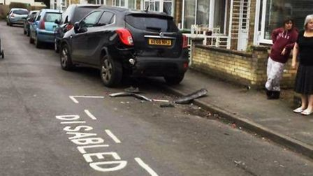 """A disabled Wisbech woman has described the aftermath of a five-car crash outside her home as """"apocal"""