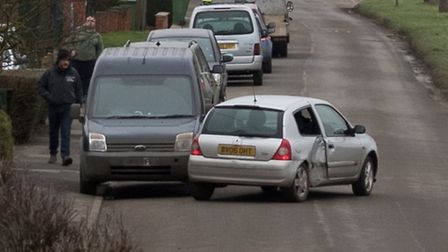 Nearby resident photographs car that span out of control in Wisbech