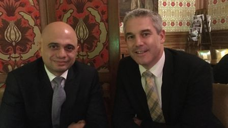 MP Steve Barclay (right) at a meeting yesterday in Parliament with the Secretary of State for Local
