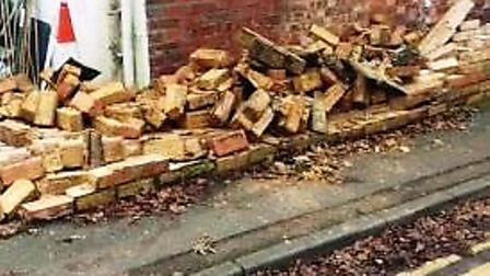 Driver reported after hitting a wall in Wisbech