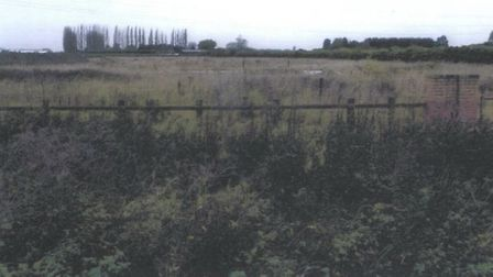 The disused paddock at Wheatley Bank, Walsoken, that has been rejected by West Norfolk Council for a
