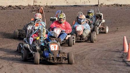 Action from the latest Wisbech and District Kart Racing Club meeting. Photo: Mark Haylett