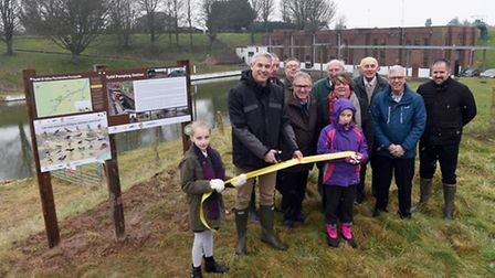 MP Steve Barclay was joined by pupils from local school pupils for the officially opening of the new
