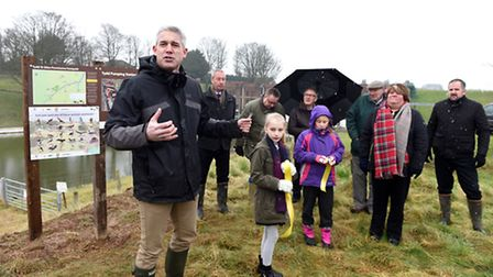MP Steve Barclay at the opening of the new permissive footpath at Tydd St Giles. PHOTO: Ian Carter