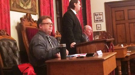 Wisbech Town Council, February 27, 2017, and more members of the public are present than usual. They