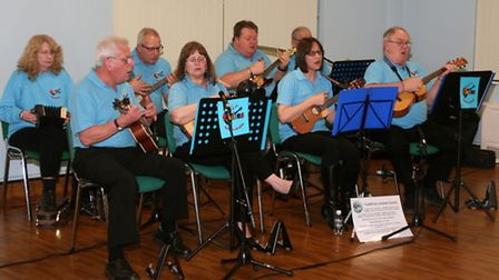 Fenland Ukuleles (Flukes) were invited to entertain the Physically Handicapped and Able Bodied Club