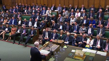 Labour leader Jeremy Corbyn speaks in the House of Commons. Photograph: PA Wire.
