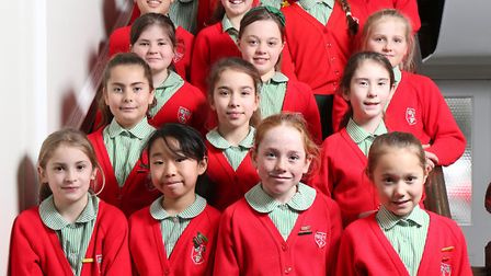 The year six pupils of Stormont School who have done well with their 11-plus exams.